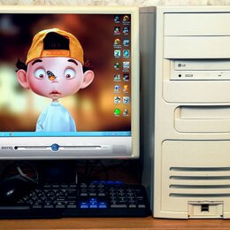 Настольные компьютеры - Компьютер полный комплект Пентиум 4 2.53 Ггц \ 2 Гб ОЗУ, 0