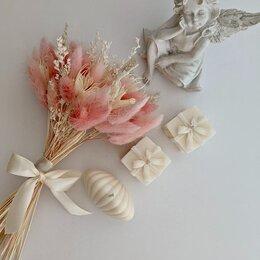 Цветы, букеты, композиции - Букет из сухоцветов, формованные свечи, 0