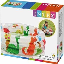 Бассейны - бассейн детский надувной для малышей диаметр 62 см высота 22 см, 0