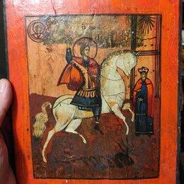 Иконы - икона Георгий Победоносец, старинная, 0