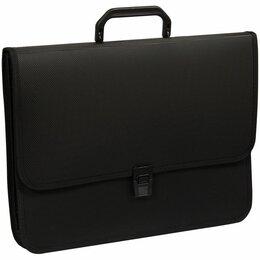 Рюкзаки, ранцы, сумки - Портфель 2 отд. на замке, OfficeSpace, черный, А4+, 370*280*120мм (12), 0