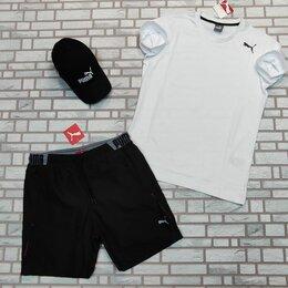 Спортивные костюмы - Комплект футболка с шортами puma белый, 0