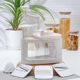 Кухонные комбайны и измельчители - Овощерезка 8 в 1 «Парехо», 24,5×15×21,5 см, 0