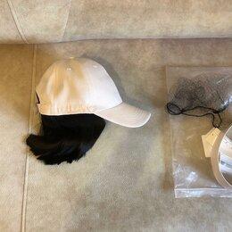 Аксессуары для волос - Парик черные волосы -каре, с кепкой-бейсболкой  54-57 размер Новый, 0