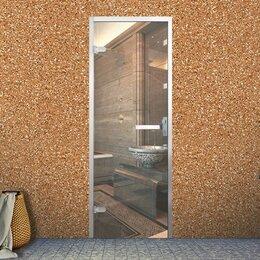 Двери - Стеклянная дверь в хамам с алюминиевой коробкой, 0