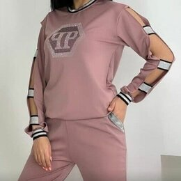 Костюмы - Женский брючный костюм Philipp Plein р-ры 46-56, 0