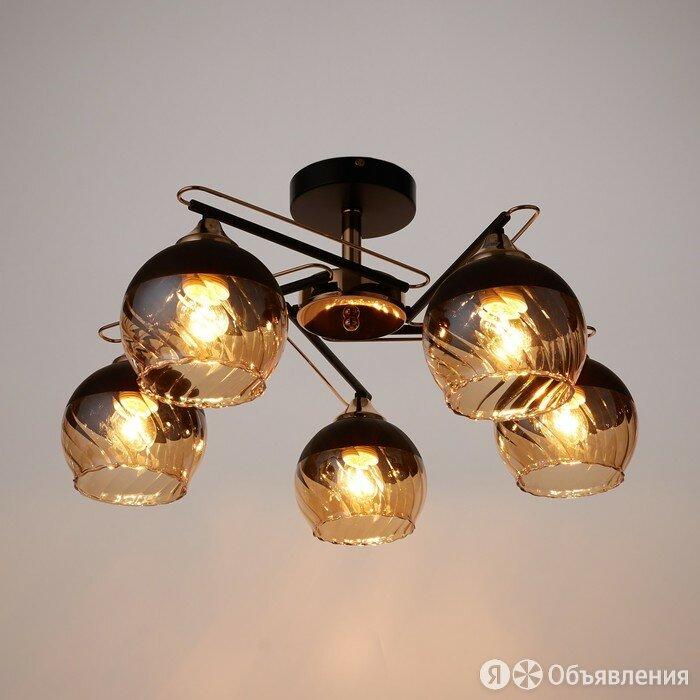 Люстра 'Каскад' 744700 5хE27 черный/медный по цене 4919₽ - Люстры и потолочные светильники, фото 0