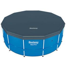 Тенты и подстилки - Тент Bestway 58037 для бассейнов 3.60/3.66 м (d 370 см), 0