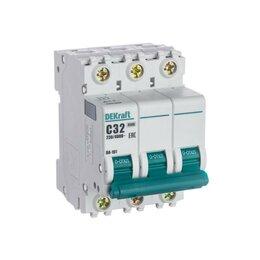 Краны для воды - Выключатель автоматический ВА-101 3Р 32А 4.5кА хар-ка C DEKraft, 0