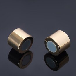 Аксессуары - Замок-концевик магнитный, L=25мм, вн.D=15мм,(набор 2шт), цвет золото, 0