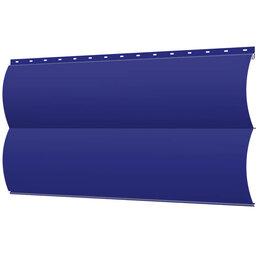 Сайдинг - Сайдинг металлический Блок-Хаус под бревно RAL5002 Синий Ультрамарин, 0