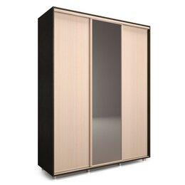 Зеркала - Шкаф-купе Удачный 1 зеркало 1770х600х2300 Венге Темный/Венге Светлый, 0