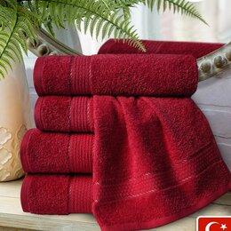 Полотенца - 4 махровых полотенца Марракеш, цвет темно-алый, 100% хлопок, 0