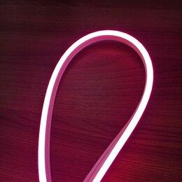 Светодиодные ленты - Гибкий неон 12 В, 6*12 мм, кратность реза 1 см, розовый. Премиум., 0