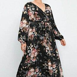Платья - Шифоновое платье плюс сайз, 0