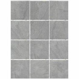Плитка из керамогранита - Керамогранит Дегре 1299H серый (полотно из 12 частей 9.8х9.8), 0