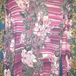 Блузки и кофточки - Женская водолазка с длинным рукавом и цветочным принтом, XL, 0