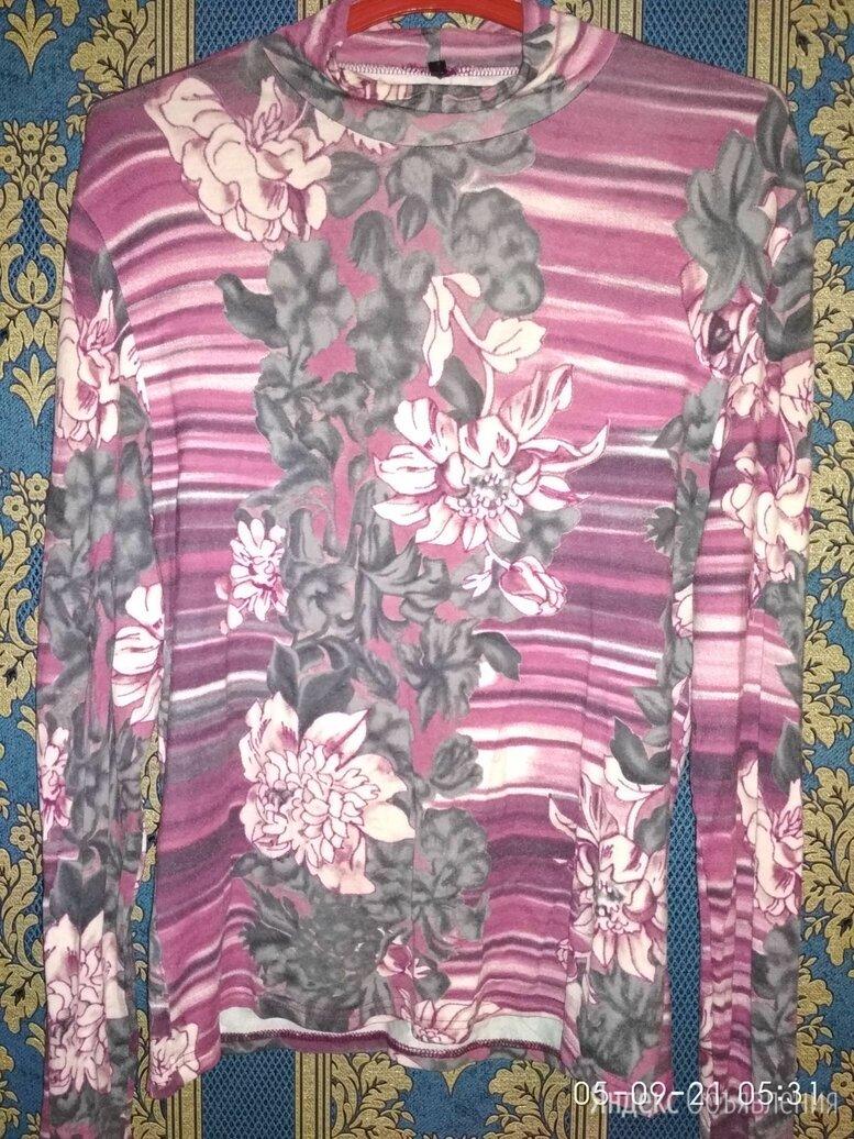 Женская водолазка с длинным рукавом и цветочным принтом, XL по цене 170₽ - Блузки и кофточки, фото 0