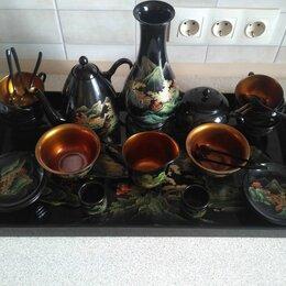Сервизы и наборы - Сервиз чайный из тикового дерева, 0