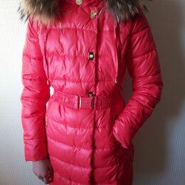 Куртки и пуховики - Пуховое пальто, стильный пуховик на рост 158 см, 0