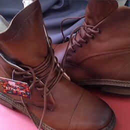 Ботинки - Кожаные ботинки, 0