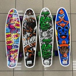 Скейтборды и лонгборды - Пенниборд 55см - 15см принт, 0