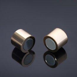 Аксессуары - Замок-концевик магнитный, L=20мм, вн.D=12мм, (набор 2шт), цвет золото, 0