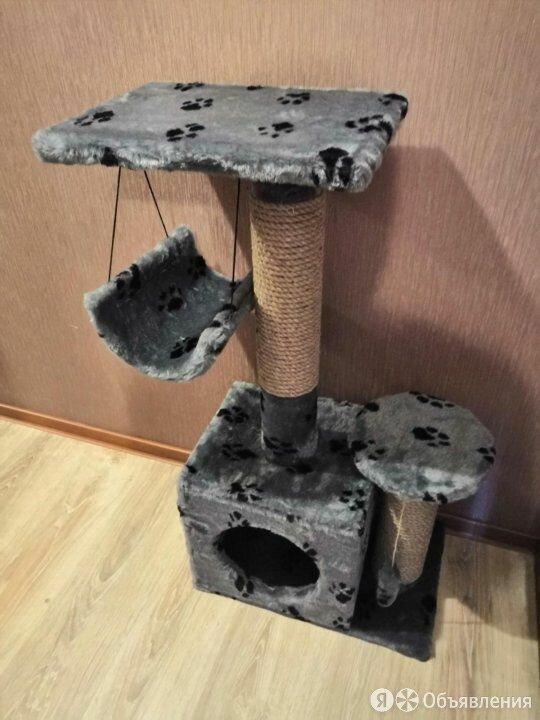 Домик когтеточка для кошек 2 этажа с качелью Новый по цене 2690₽ - Когтеточки и комплексы , фото 0