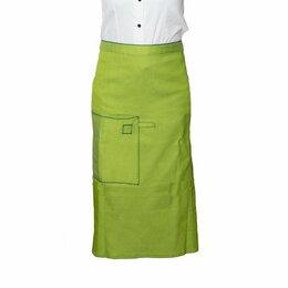 Одежда и аксессуары - Фартук с карманом с оторочкой, фисташковый, 0