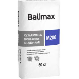 Строительные блоки - Смесь сухая монтажно-кладочная BAUMAX М-200 50 кг , 0