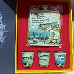 Фляги - Подарочный набор для мужчин Фляжка helios рыба 210мл, 0