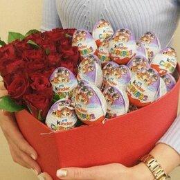 Киндер-сюрприз - 15 роз и 15 киндер сюрпризов, 0