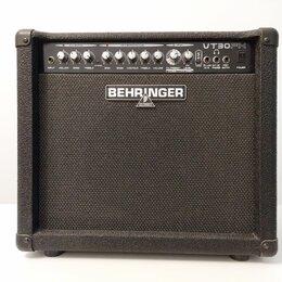 Гитарное усиление - Комбоусилитель behringer vt30fx с футсвичем, 0