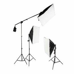 Фотовспышки - Комплект студийного оборудования ( свет + журавль), 0