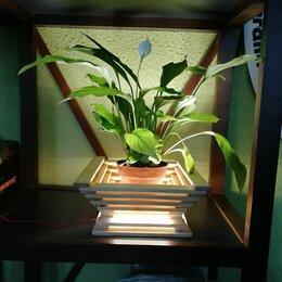 Горшки, подставки для цветов - Кашпо-светильник, 0