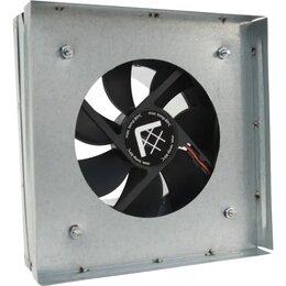 Кулеры и системы охлаждения - Вентилятор-переходник от трубы к решетке 17х17 d-100мм(с термостатом), 0