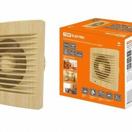 Вентиляторы - TDM вентилятор бытовой настенный d=100мм 15Вт 100м3/ч, сосна, индикатор, моск..., 0