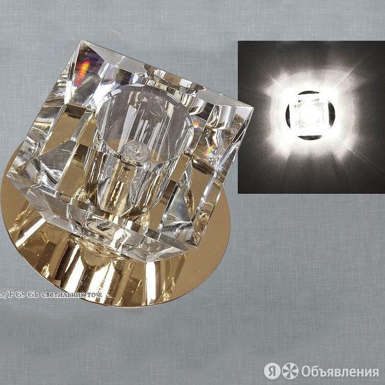 """Светильник встраиваемый Sneha """"6005/F G9 GD"""". Золото+прозрачный по цене 228₽ - Встраиваемые светильники, фото 0"""