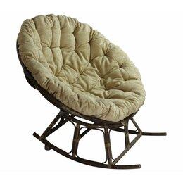 Плетеная мебель - Papasan rocking кресло, ротанг №6+ткань mulan 141 (110*110), 0