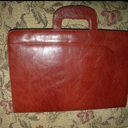 Портфели - Мужской кожаный портфель новый, 0