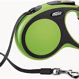 Поводки  - FLEXI рулетка NEW COMFORT М (до 25 кг) лента 5 м черный/зеленый , 0