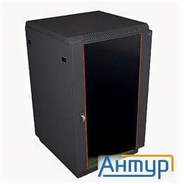 Прочее сетевое оборудование - ЦМО! Шкаф телекоммуникационный напольный 18u (600x600) дверь стекло, цвет чёр..., 0