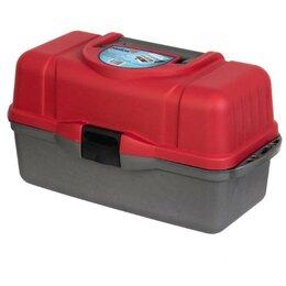 Сумки и ящики - Ящик рыболова Helios трехполочный красный, 0