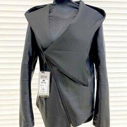 Куртки - Женская куртка кожзаменитель, 0