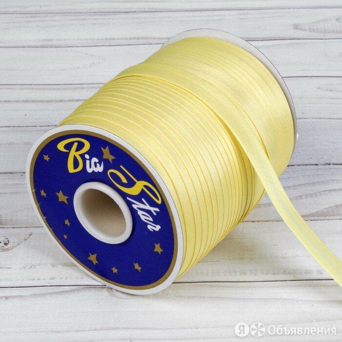 Косая бейка, 15 мм x 132 м, цвет пастельно-жёлтый F108 по цене 459₽ - Прочая техника, фото 0