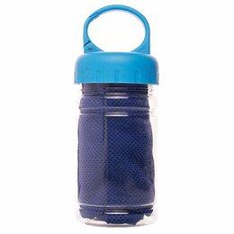 Аксессуары и комплектующие - Полотенце для фитнеса из микрофибры в колбе 30x100 см (blue), 0