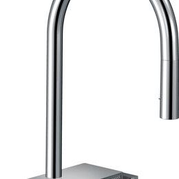 Смесители - Смеситель Hansgrohe Aquno Select M81 73837000 для кухонной мойки, хром, 0