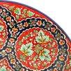 Ляган круглый Риштанская Керамика, 41см, кара калам, красный, микс по цене 2227₽ - Посуда, фото 3
