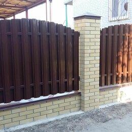 Заборы, ворота и элементы - Штакетник металлический для забора в г. Михайловск, 0