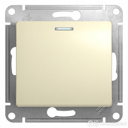 Glossa Беж Выключатель 1-клавишный с подсветкой по цене 175₽ - Керамическая плитка, фото 0